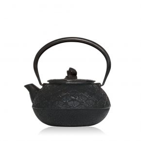 Black Cast Iron Teapot Matsuba 0.65 L