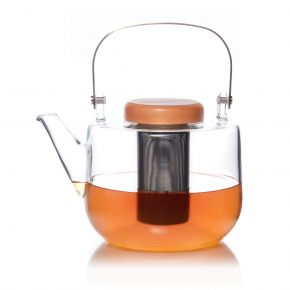 Glass teapot Wide 1,2L – Summer collection – Palais des Thés