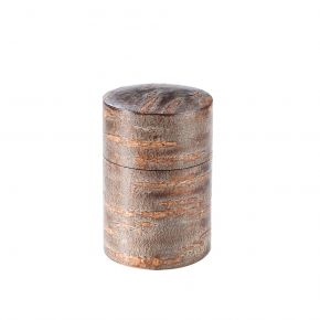 Solid Cherry Bark Tea Caddy Unpolished Finish 125g