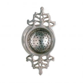 Silver Plated Tea Strainer & Drip Tray W711F