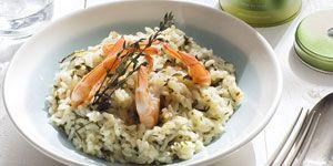 Risotto au Sencha Ariake et aux crevettes